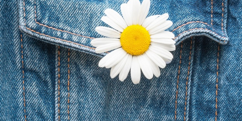 Jeansjacken als Naturmode